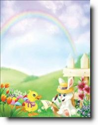 personalized easter bunny letter stationery